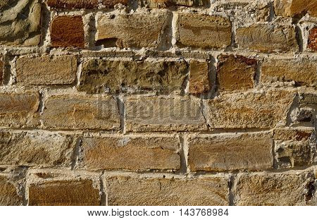 medieval brick wall. Backdrop for grunge design. Grunge design backdrop