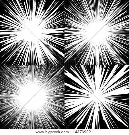 Explosion Speed Lines Set2