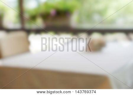 Blurred background of modern cafe