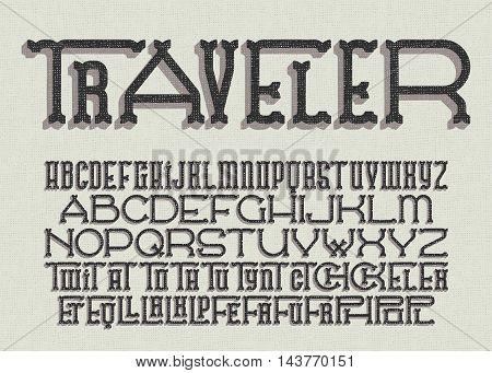 Traveler Typeface 02.eps