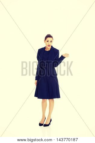 Anoyed and displeased businesswoman