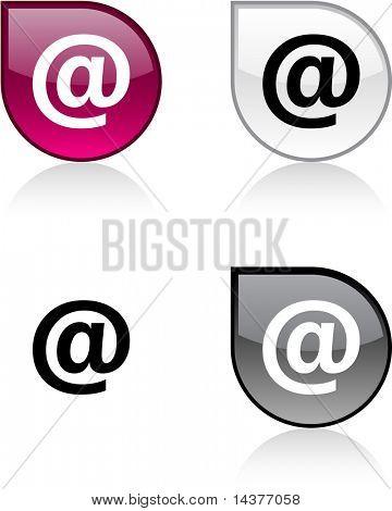 Arroba glossy drop vibrant buttons.