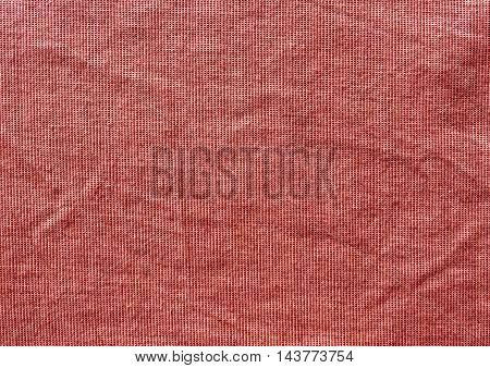Grungy Red Textile Cloth Texture.