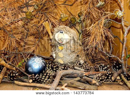 Baba Yaga Decorates The Forest  For The New Year