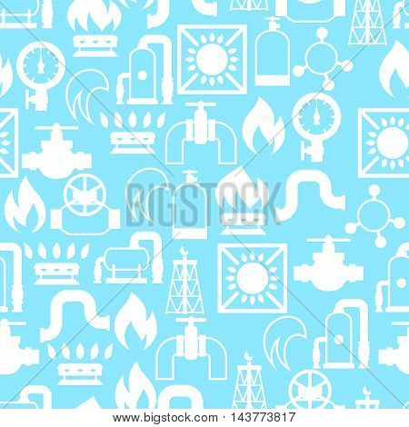Natural gas production, injection and storage. Industrial seamless pattern.