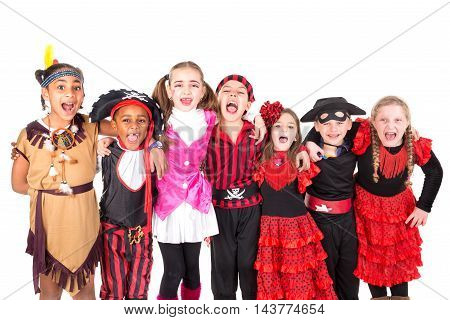 Kids In Costumes