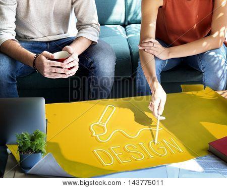 Art Brush Painting Creativity Imagination Skills Concept