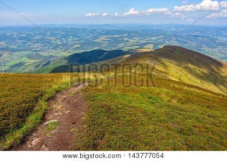 Narrow Path Down The Mountain
