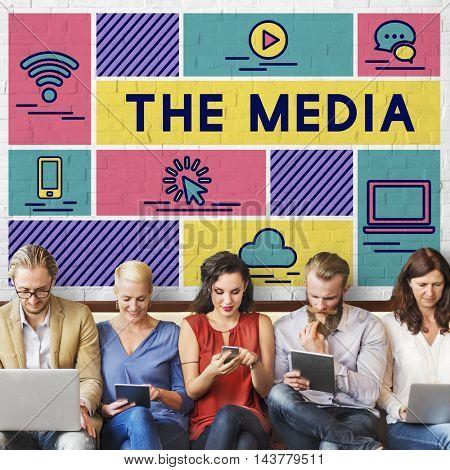 Media Computer Communication Internet Information Concept