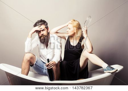 Family Couple In Routine