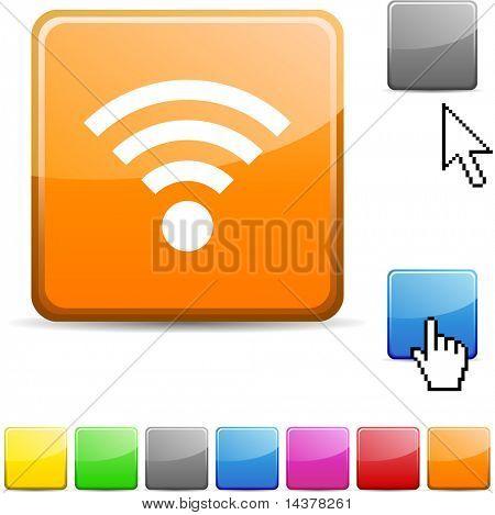 Rss glossy vibrant web icon.