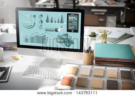 Analytics Statistics Business Progress Analysis Concept