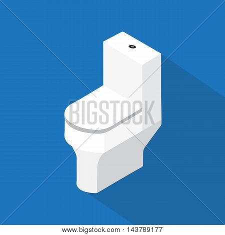 flush toilet , flat vector perspective design.