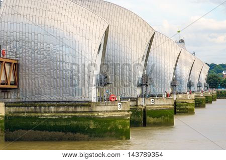 Thames Barrier In London, Uk