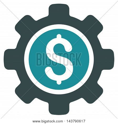 Financial Tools icon. Vector style is bicolor flat iconic symbol with rounded angles, soft blue colors, white background.