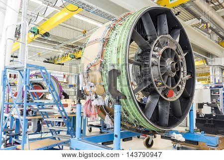 Big Airplane Engine During Maintenance