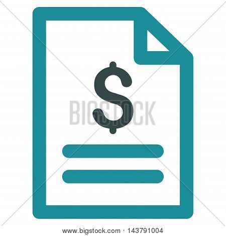 Price List icon. Vector style is bicolor flat iconic symbol with rounded angles, soft blue colors, white background.