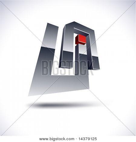UA 3d vector icon such logos.
