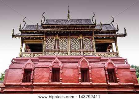 the origin of this Buddhist scripture tower or Ho Tham stay in Lhumphun Thailand
