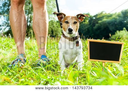 Dog Leash And Owner