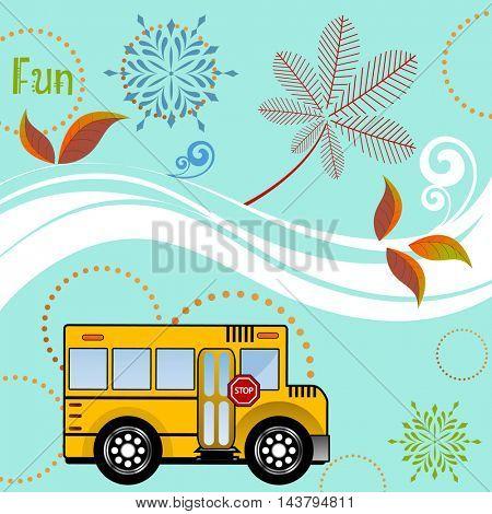 Schoolbus back to school season concept