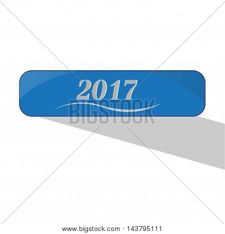 vector icon new year 2017 illustration on background