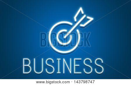 Target Goals Aim Aspiration Focus Vision Graphic Concept