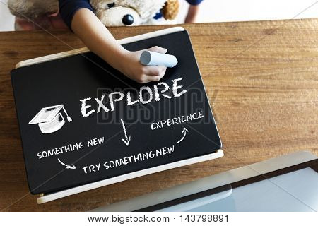 Academic Education Explore Knowledge Graphic Concept