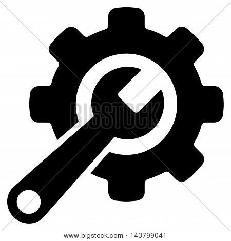 Tools icon. Vector style is flat iconic symbol with rounded angles, black color, white background.
