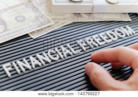 concept image of financial freedom background texture