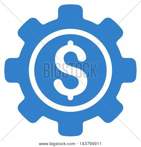 Financial Tools icon. Vector style is flat iconic symbol with rounded angles, cobalt color, white background.