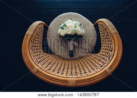 Gorgeous Flowers Lying On A Chair