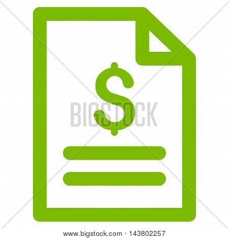 Price List icon. Vector style is flat iconic symbol with rounded angles, eco green color, white background.