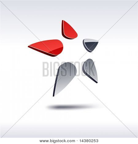 star 3d vector icon such logos.