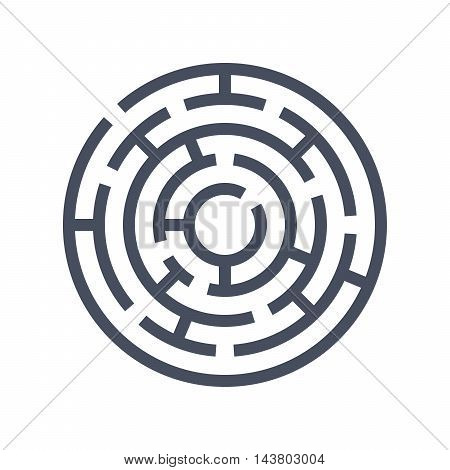 Vector illustrations with maze isolated in white background.