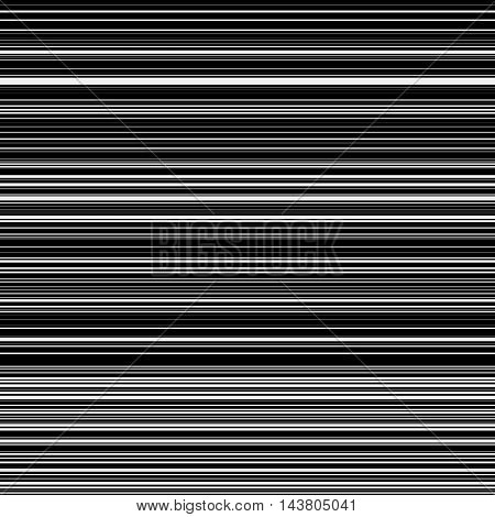 Light abstract background with seamless random black horizontal lines for design concepts, posters, banners, web, presentations and prints. Vector illustration.