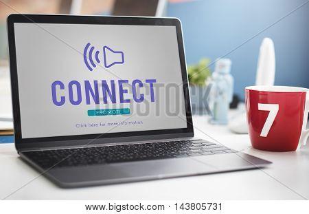 Loud Speaker Sound Icon Concept
