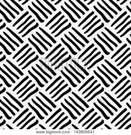 Black Marker Drawn Diagonal Stripes