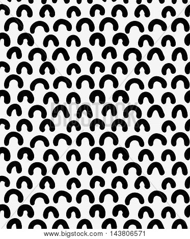 Black Marker Drawn Simple Arcs