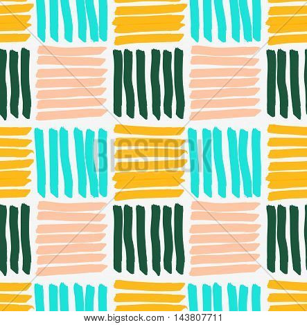 Marker Drawn Horizontal And Vertical Striped Squares