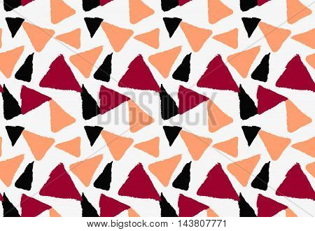 Marker Drawn Orange Red And Black Triangles