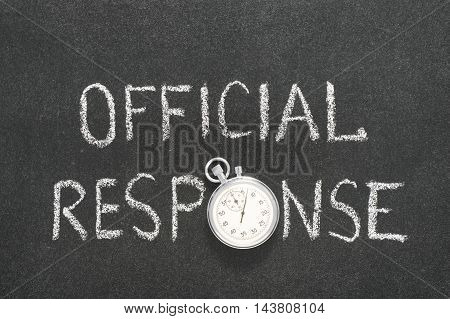 Official Response Watch