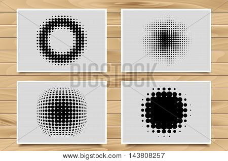 Abstract Halftone Backgrounds.