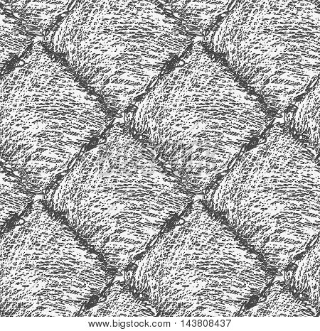 Pencil Hatched Dark Gray Squares