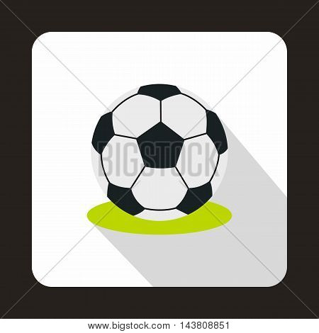 Football ball icon in flat style on a white background