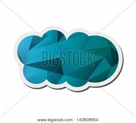 flat design abstract single cloud shape icon vector illustration