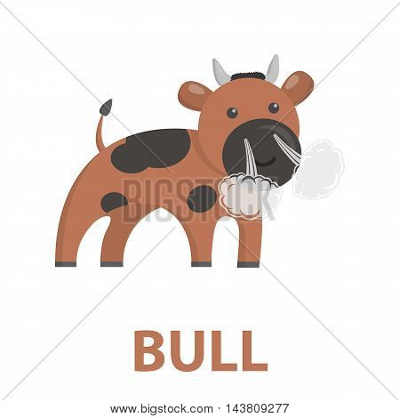 Bull cartoon icon. Illustration for web and mobile.