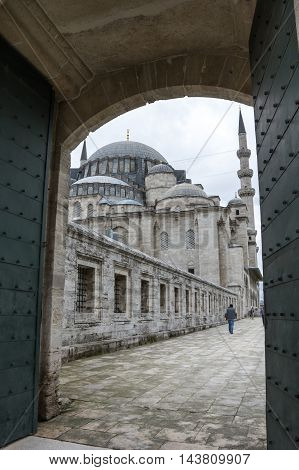 The Suleymaniye Mosque is an Ottoman imperial mosque located on the Third Hill of Istanbul Turkey. It is the largest mosque in the city and one of the best-known sights of Istanbul