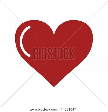 flat design heart cartoon icon vector illustration