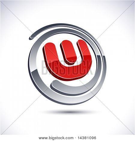 Abstract 3d vector icon such logos.